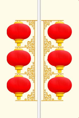 LED灯笼007-三连串道路小区灯笼