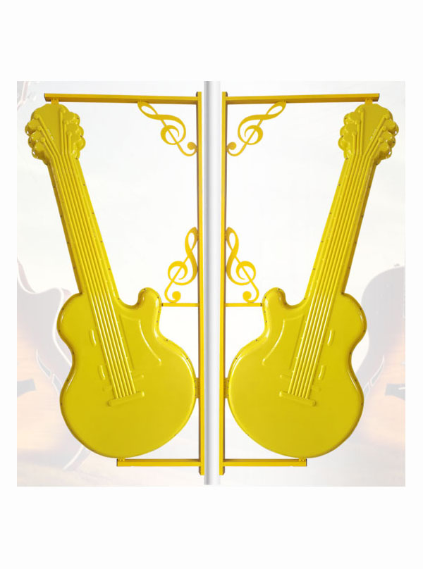 音符吉他黄